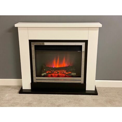 Suncrest Middleton Electric Fireplace Fire Heater Heating Real Effect Remote