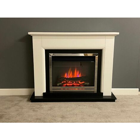 Suncrest Talent Electric Fireplace Fire Heater Heating Real Log Effect Remote