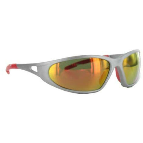 Sunglasses FREELUX LUX OPTICAL matt silver mirror red Category 3