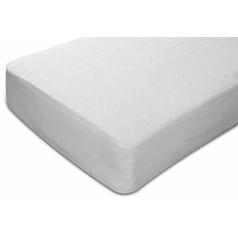 Sunlay - Protège-matelas, tissu éponge, imperméable et respirant. 90x190/200cm-Lit 90.