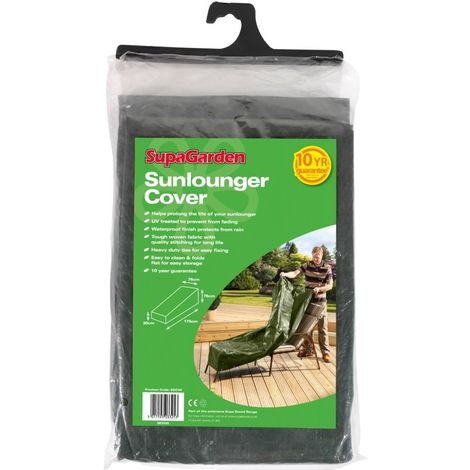 Sunlounger Cover UV Treated / Waterproof - 76cm x 76cm x 175cm 30cm