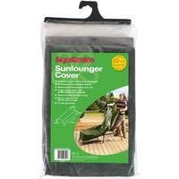 Sunlounger Cover UV Treated / Waterproof - 76cm x 76cm x 175cm 30cm