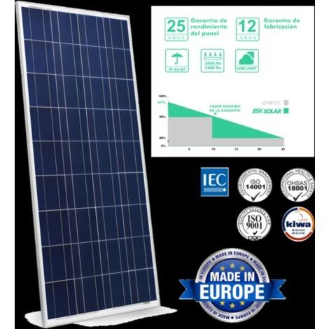 SunneSolar - Panel Solar de Policristalino con 72 células 330W 24V ideal para vivienda habitual chalets e instalaciones en casas de campo. Fabricado en Europa