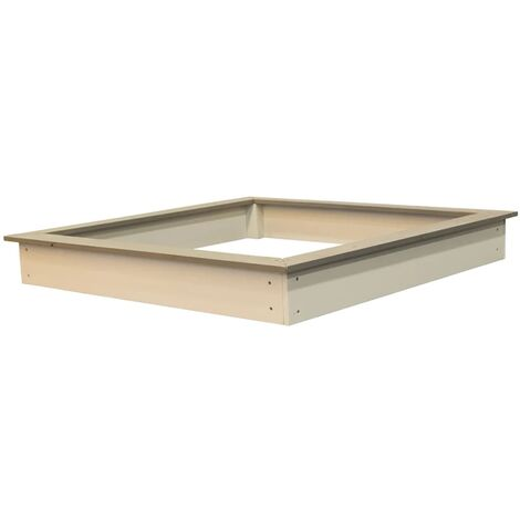Sunny Wooden Sandpit 127x127 cm Brown and White C052.001.00 - Multicolour