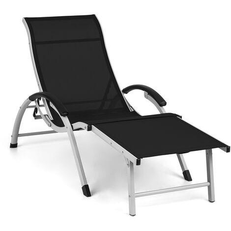 Sunnyvale Deck Chair with Footrest Aluminum 4 Steps