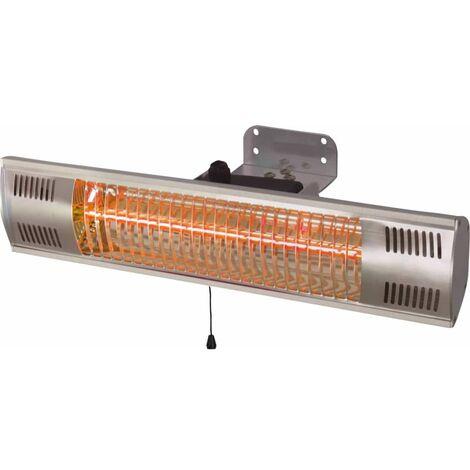 Sunred Calefactor de pared Vigo 1500 W tubo dorado plateado - Plateado