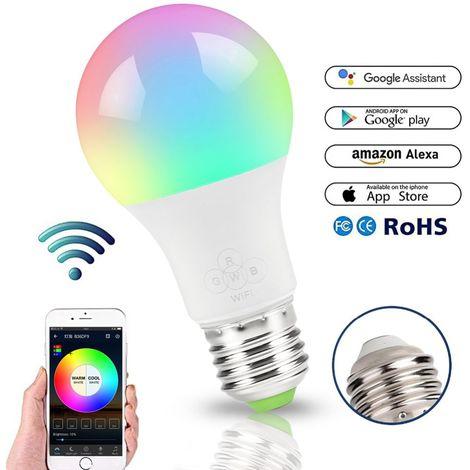 Sunrise Wake-Up Wifi Lights, Ampoule LED 4.5W (Équivalent 40W), Réglable en Couleur, Blanc Froid