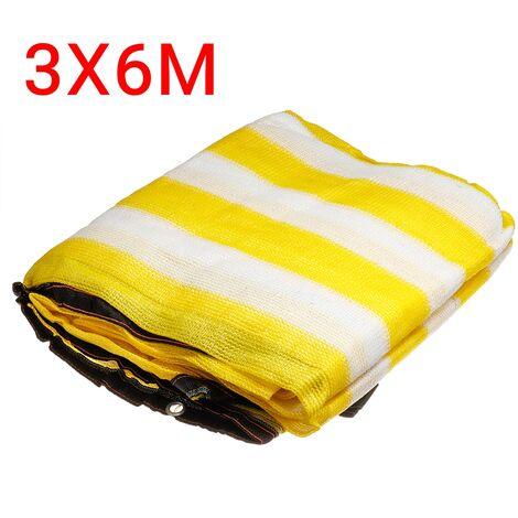 Sunshade Net Sails 3*6m Yellow&White Anti-UV 90% Shading