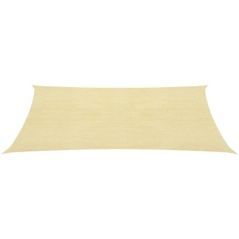 Sunshade Sail HDPE Rectangular 2x4 m Beige