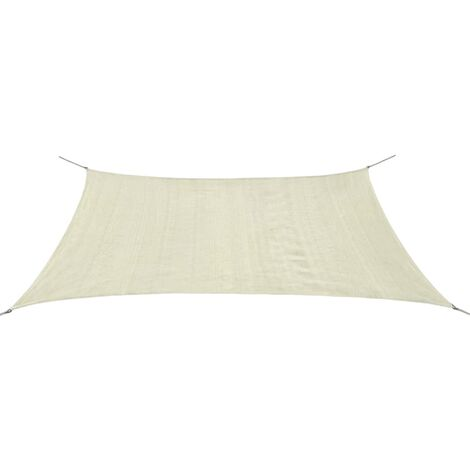 Sunshade Sail HDPE Rectangular 2x4 m Cream