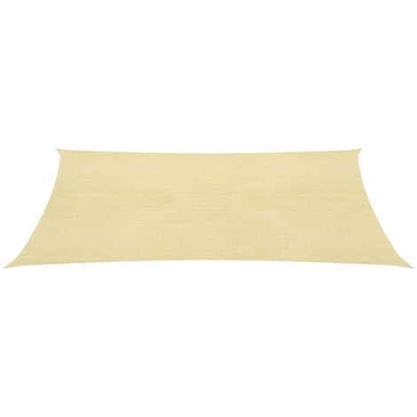Sunshade Sail HDPE Rectangular 4x6 m Beige