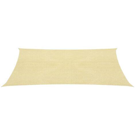 Sunshade Sail HDPE Square 2x2 m Beige