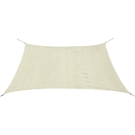 Sunshade Sail HDPE Square 2x2 m Cream