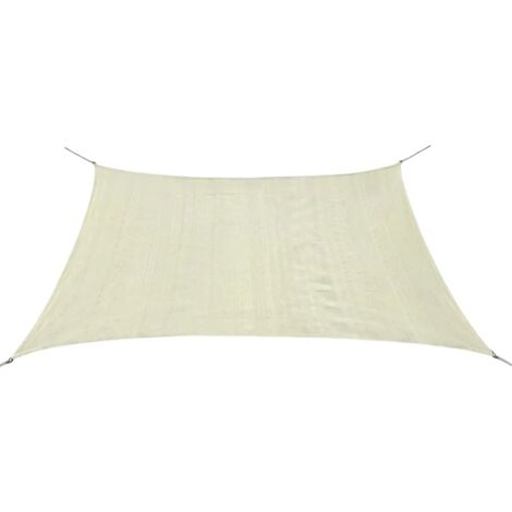 Sunshade Sail HDPE Square 3.6x3.6 m Cream