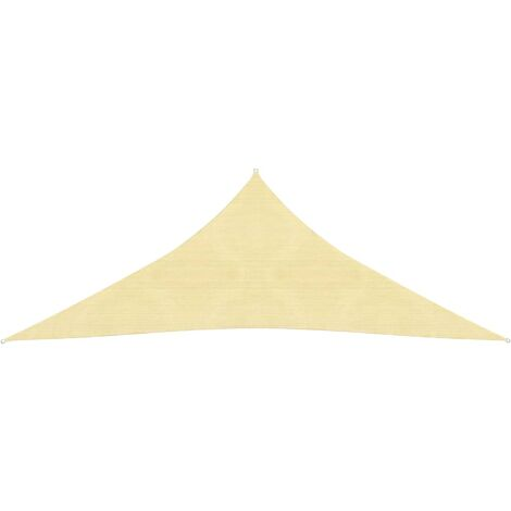 Sunshade Sail HDPE Triangular 5x5x5 m Beige
