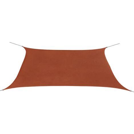Sunshade Sail Oxford Fabric Rectangular 2x4 m Terracotta