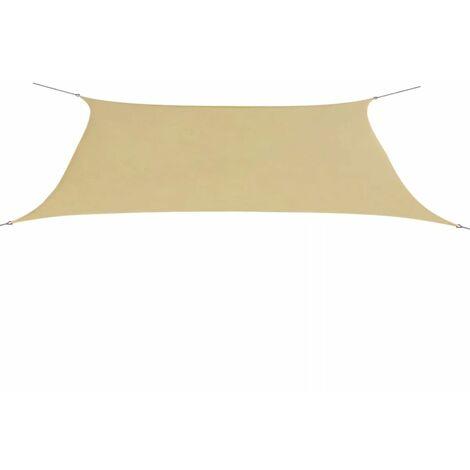 Sunshade Sail Oxford Fabric Rectangular 4x6 m Beige