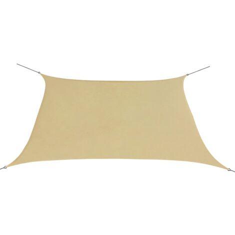 Sunshade Sail Oxford Fabric Square 2x2 m Beige