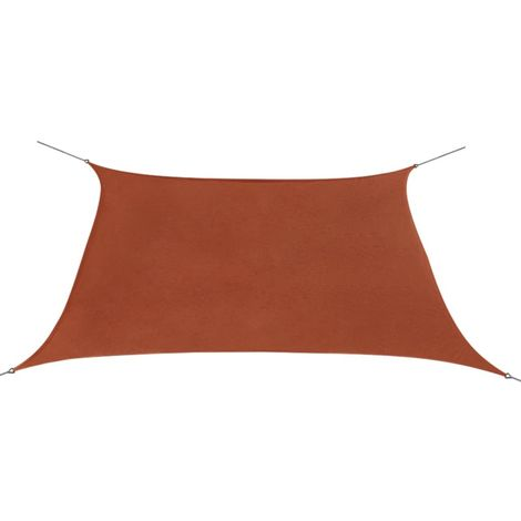 Sunshade Sail Oxford Fabric Square 3.6x3.6 m Terracotta