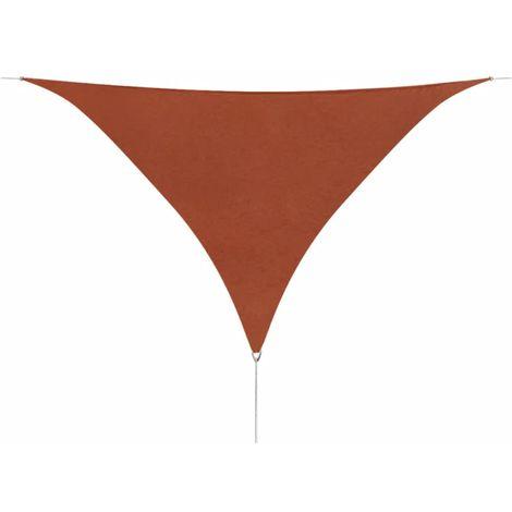Sunshade Sail Oxford Fabric Triangular 3.6x3.6x3.6 m Terracotta