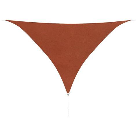 Sunshade Sail Oxford Fabric Triangular 5x5x5 m Terracotta
