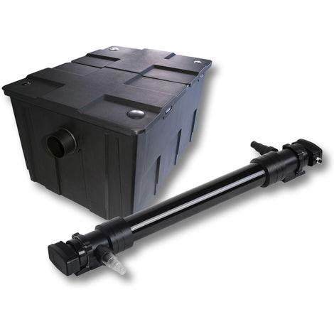SunSun 1 cámara Filtro para 60000l estanque con 72W UVC 6 Clarificador jardin