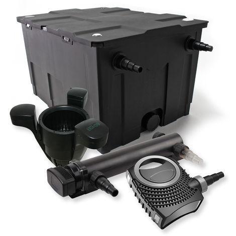SunSun 1Cámara Filtro Set 60.000l 36W UVC 3Clarificador NEO1000080W Bomba Skimmer