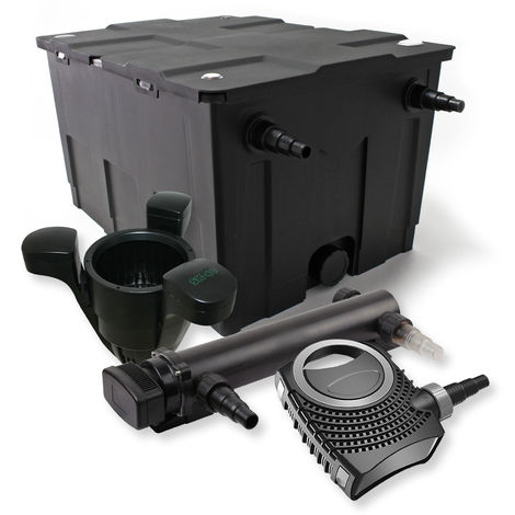 SunSun 1Cámara Filtro Set 60.000l 36W UVC 3Clarificador NEO800070W Bomba Skimmer