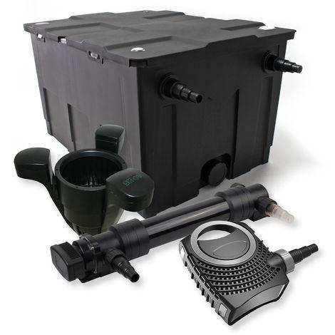 SunSun 1Cámara Filtro Set 60.000l 36W UVC 6Clarificador NEO1000080W Bomba Skimmer