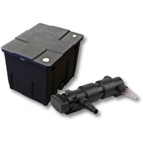 SunSun 1de cámara Juego de filtros para 12.000l Estanque con 24W UVC 6Clarificador jardin