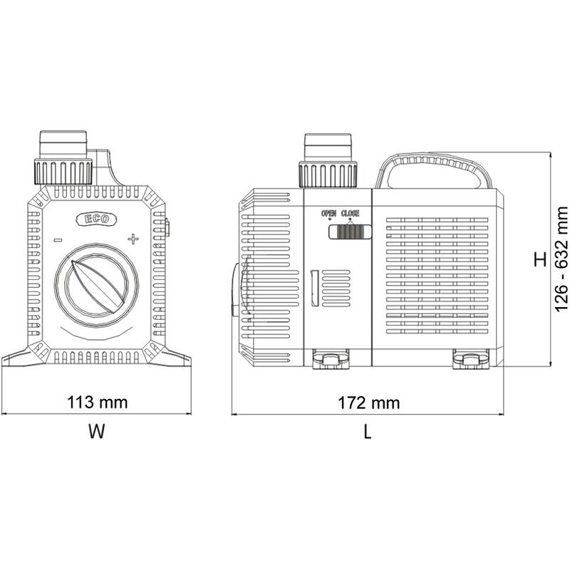 SunSun 3600l//h 20W SuperECO Bomba Fuente ajustable Filtro CTP-3803