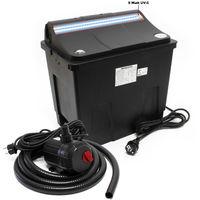 SunSun biofiltro per stagni CBF-200T Impianto completo filtrazione 9W Pompa per stagni 2300 l/h 35W