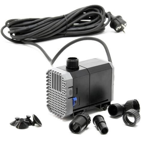SunSun CHJ-1500-10 Pompe de Bassin 1500l/h 25W, comme filtre ou pompe de cours d'eau, Câble 10m