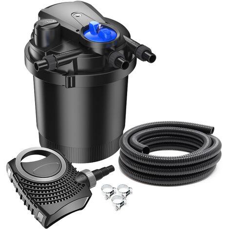 SunSun CPA-2500 SET 6000l 11W UVC NEO3800 Pompe Tuyau Kit de Filtration