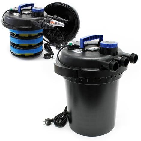 Sunsun CPF-250 filtro presión lámpara UVC 11W estanques hasta 10000L KOI jardín Peces Jardinería