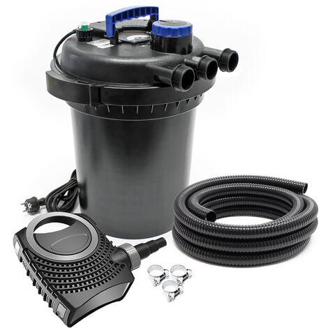 SunSun CPF-250 SET 10000l 11W UVC NEO6000 Pompe Tuyau Kit de Filtration