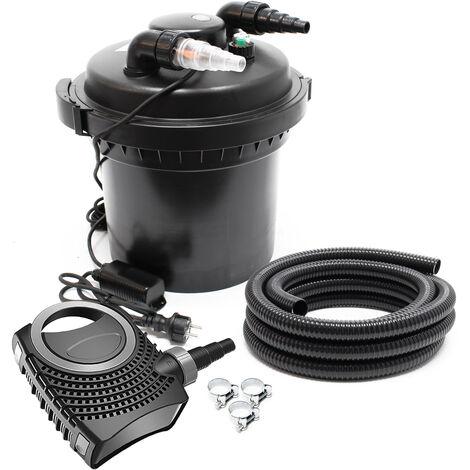 SunSun CPF-280 SET 8000l 11W UVC NEO6000 Pompe Tuyau Kit de Filtration
