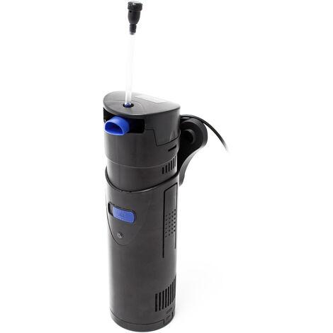 SunSun CUP-807 4:1 Pompe d'Aquarium 700 l/h 10W avec 7W UVC-Stérilisateur et Matériau filtre