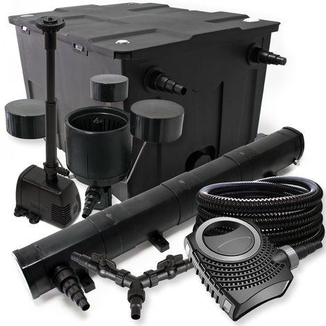 SUNSUN de filtros 60000l Estanque 72W clarificador neo1000080W Bomba 25m Manguera Skimmer fuente