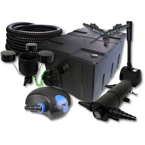 SunSun Filter Set 90000l Teich 36W UVC 100W Pumpe Schlauch Skimmer Springbrunnen