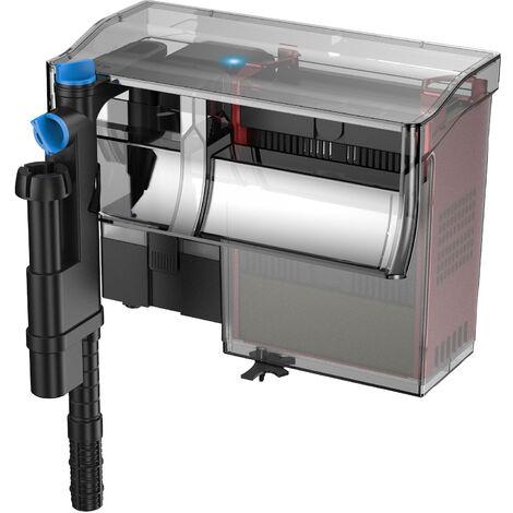 SunSun Filtre suspendu CBG-800 Hang On Filter 800 l/h pour Aquariums jusqu'à 190 l avec UVC