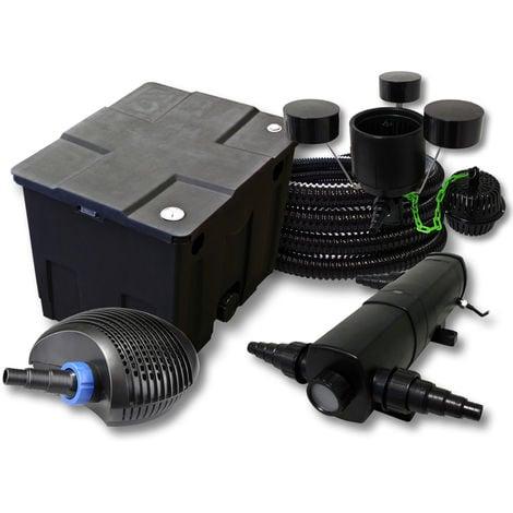 SunSun filtro 12.000l Estanque con 36W Clarificador CTF Eco Bomba con 20W 25m tubo Skimmer CSP 250