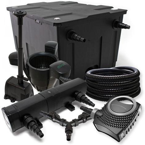 SUNSUN filtro 60000l Estanque 24W Clarificador neo1000080W Bomba 25m Manguera Skimmer fuente jardin