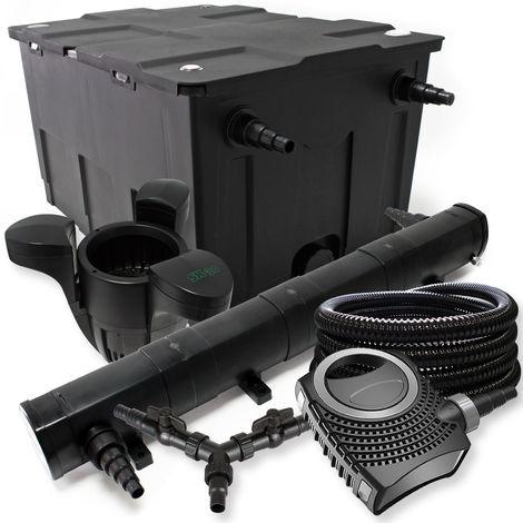 SUNSUN filtro 60000l Estanque 72W Clarificador neo800070W Bomba 25m Manguera Skimmer SK30