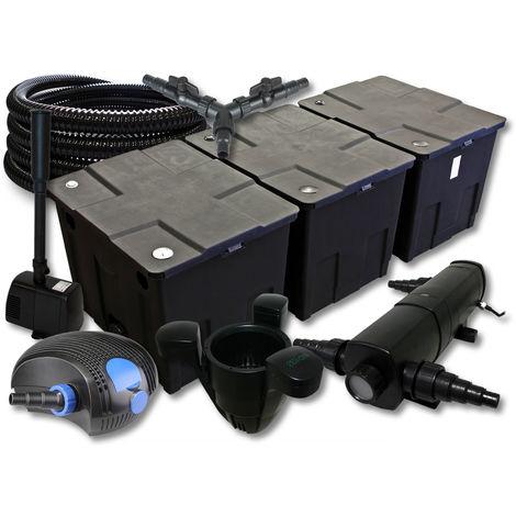 SunSun filtro 90000l Estanque 36W clarificador 100W ECO Bomba 25m Manguera Skimmer fuente jardin