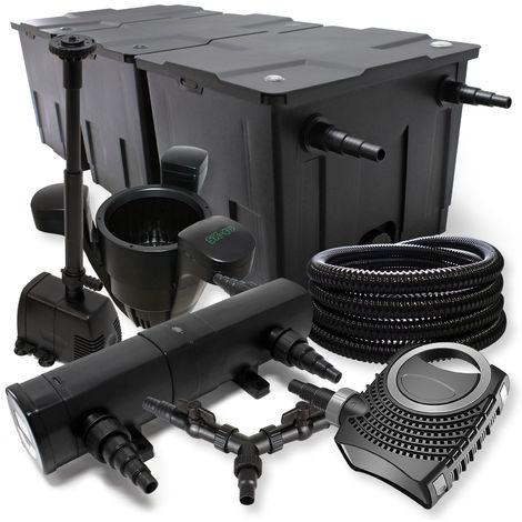 SunSun filtro 90000l Estanque 36W clarificador neo1000080W Bomba 25m Manguera Skimmer fuente jardin