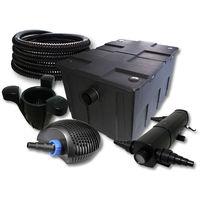 SUNSUN filtro para 60000l Estanque con 18W Clarificador y 40W ECO Bomba 25m Manguera Skimmer SK40