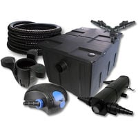 SUNSUN filtro para 60000l Estanque con 36W Clarificador y 100W ECO Bomba 25m Manguera Skimmer SK30
