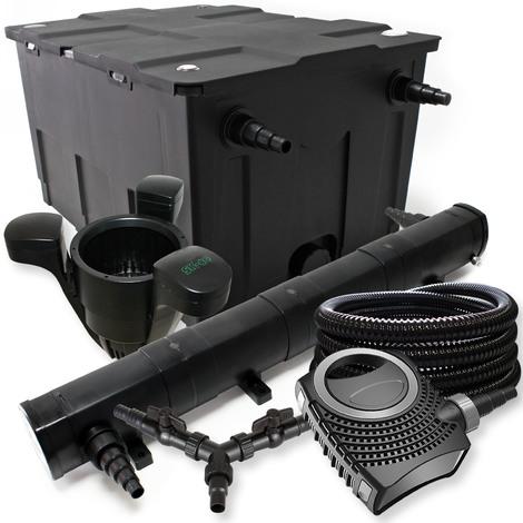 SunSun Filtro Set 60000l Estanque 72W Clarificador NEO10000 80W Bomba 25m Tubo Skimmer SK40 jardin
