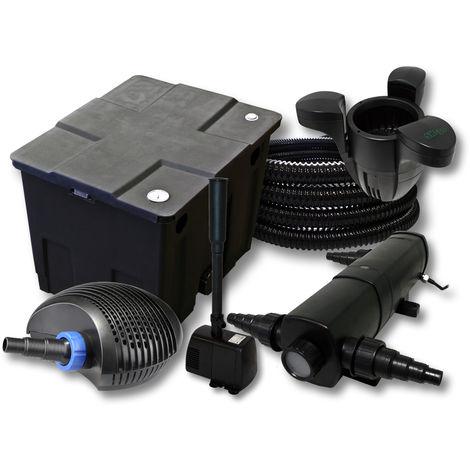 SunSun filtros 12000L Estanque 36W Clarificador CTF Eco 40W Bomba 25m tubo Skimmer SK30springbrunnen